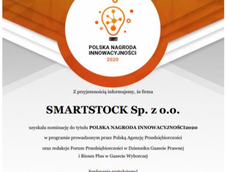 Nominacja do Polskiej Nagrody Innowacyjności 2020